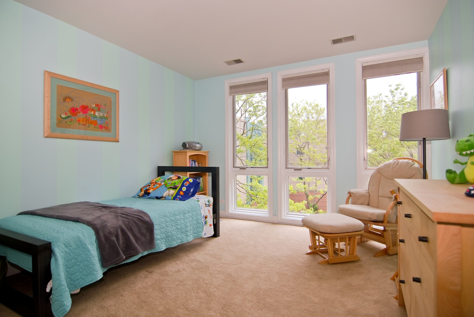 Real Estate Photography - 1416 S Federal, Unit D, Chicago, IL, 60605 - 2nd Bedroom