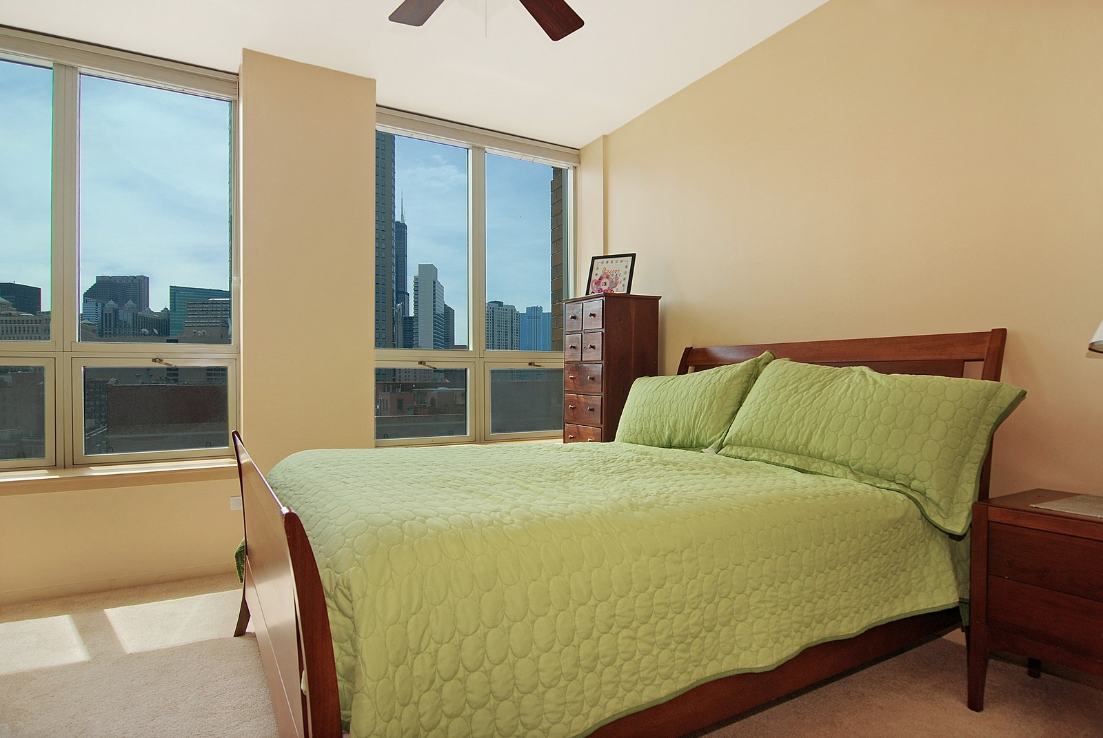 Real Estate Photography - 600 N Kingsbury, Unit 903, Chicago, IL, 60654 - Master Bedroom