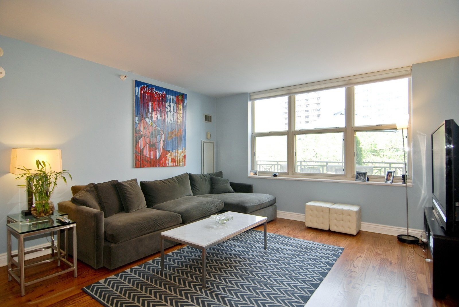 Real Estate Photography - 21 W Chestnut, Unit 505, Chicago, IL, 60611 - Living Room