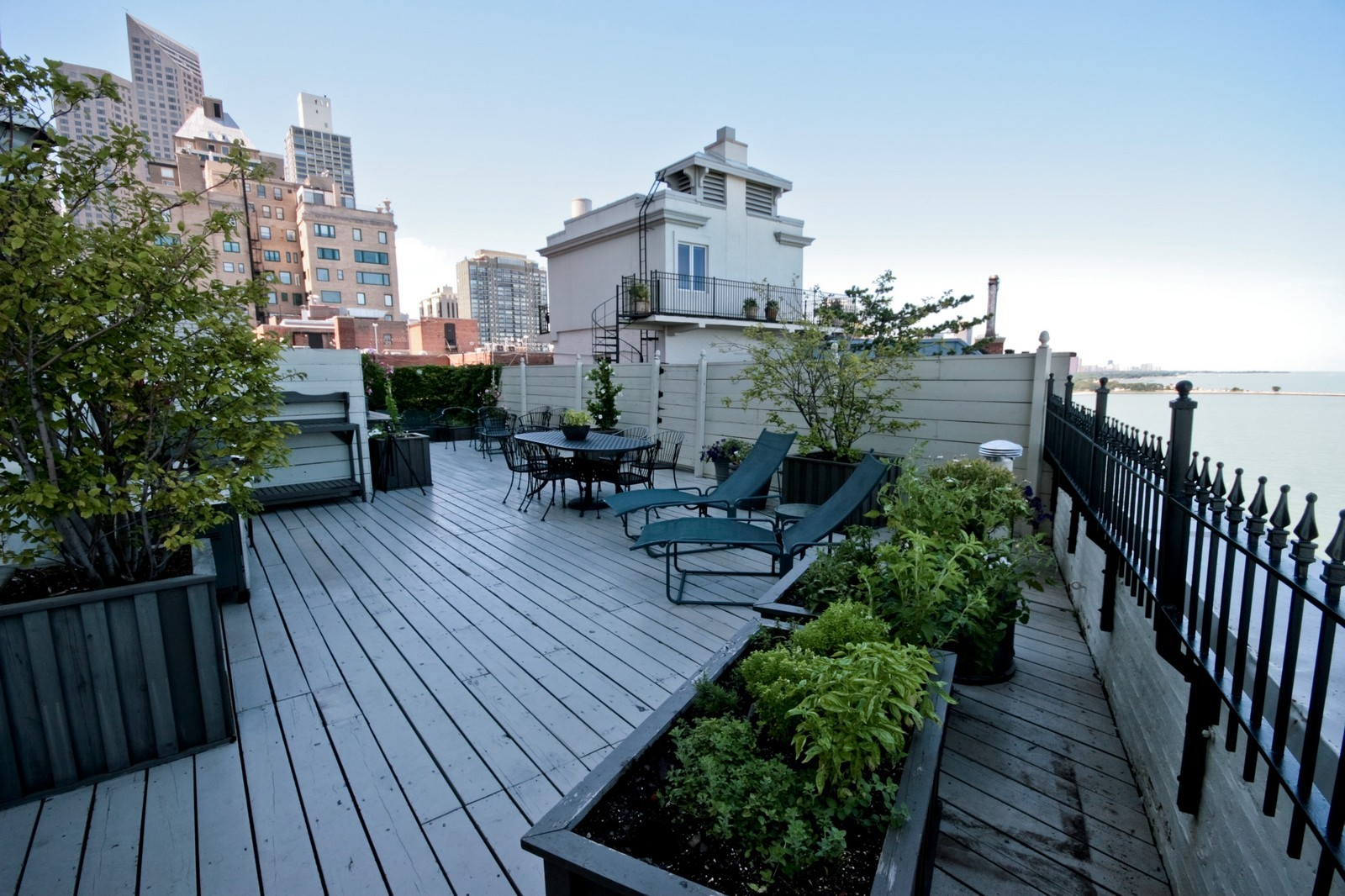 Real Estate Photography - 999 N Lake Shore, Unit 2A, Chicago, IL, 60611 - Roof Deck