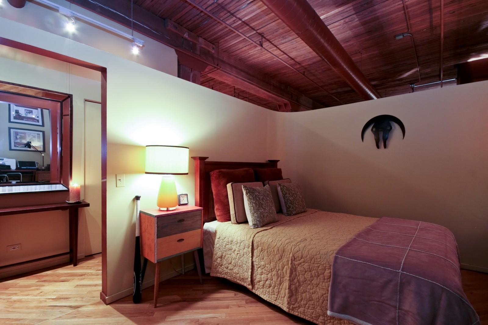 Real Estate Photography - 550 N Kingsburg, Unit 112, Chicago, IL, 60654 - Bedroom