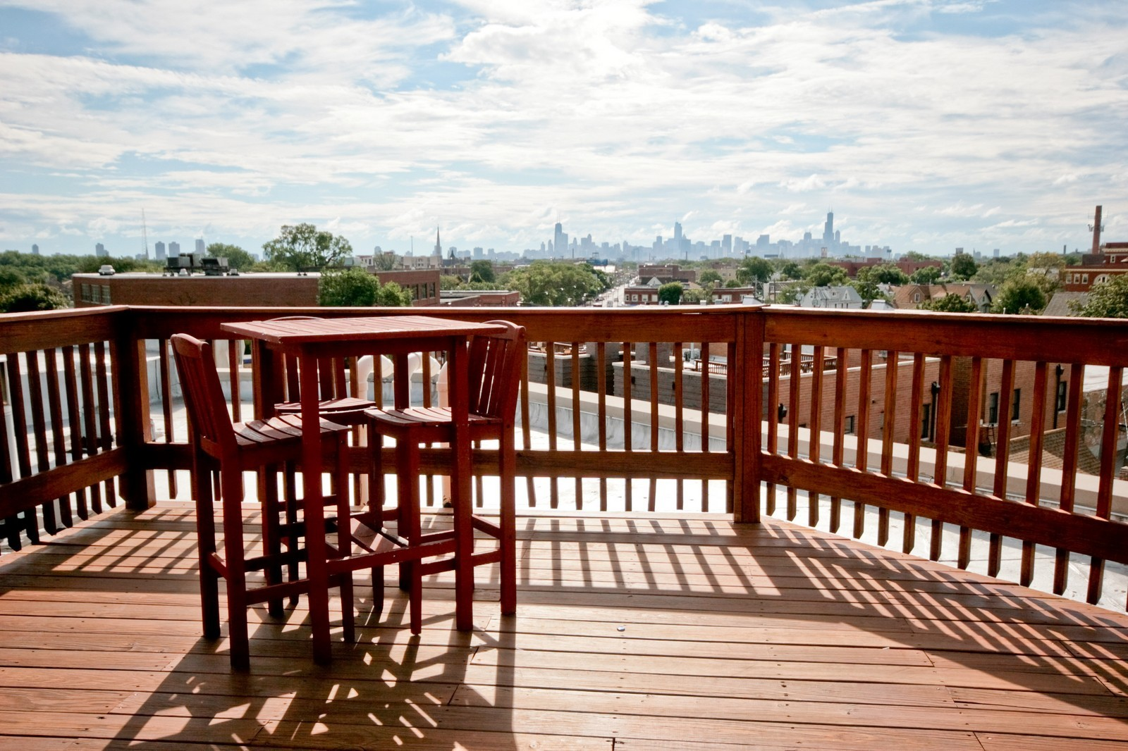 Real Estate Photography - 3028 W Roscoe, Unit 305, Chicago, IL, 60618 - Roof Deck