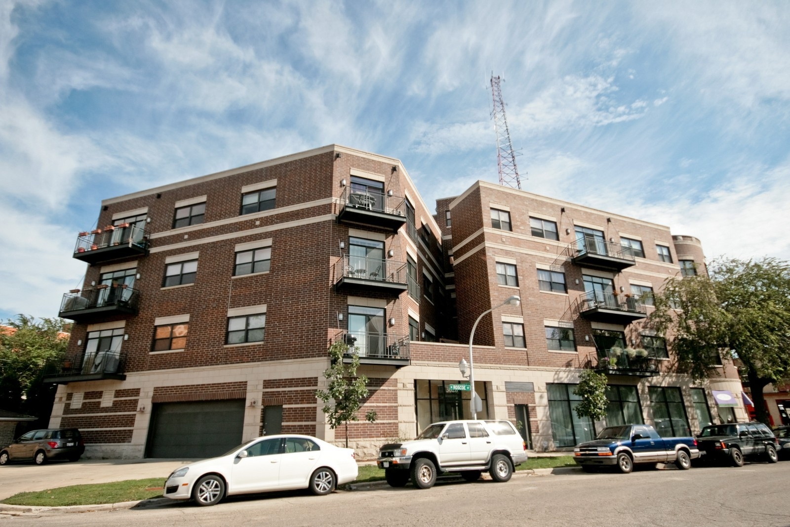 Real Estate Photography - 3028 W Roscoe, Unit 305, Chicago, IL, 60618 - Front View