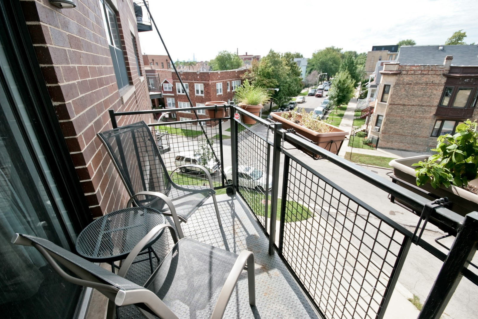 Real Estate Photography - 3028 W Roscoe, Unit 305, Chicago, IL, 60618 - Balcony