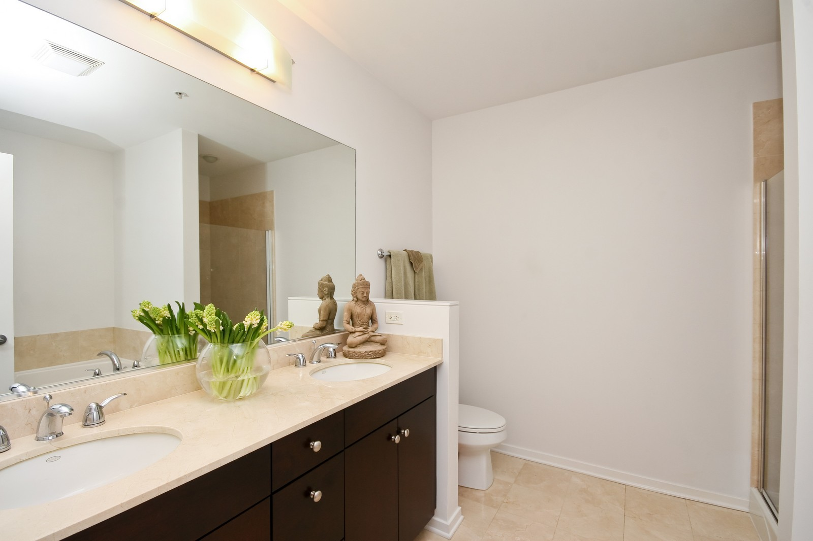 Real Estate Photography - 500 W Superior, Unit 701, Chicago, IL, 60654 - Master Bathroom