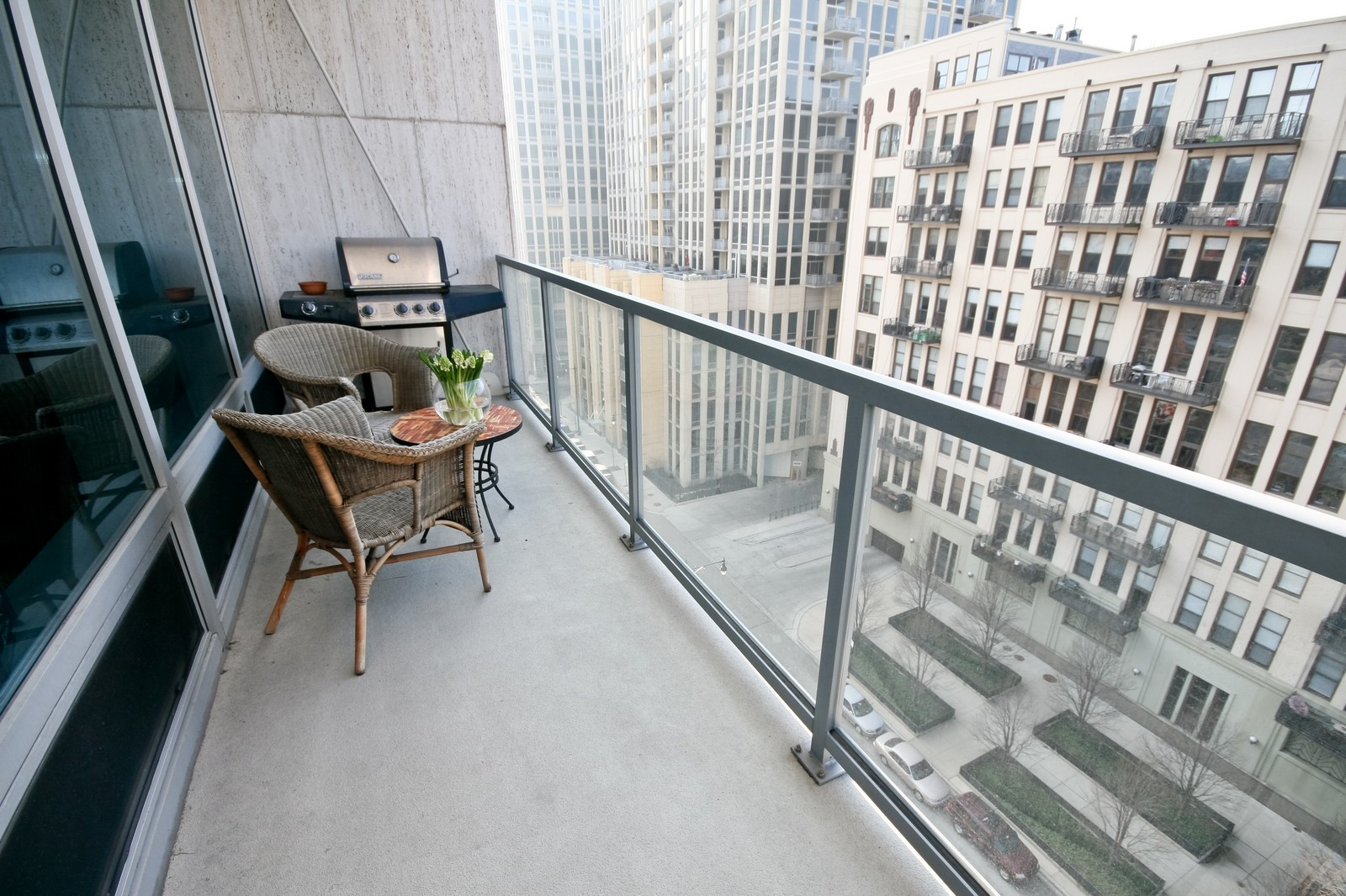 Real Estate Photography - 500 W Superior, Unit 701, Chicago, IL, 60654 - Balcony