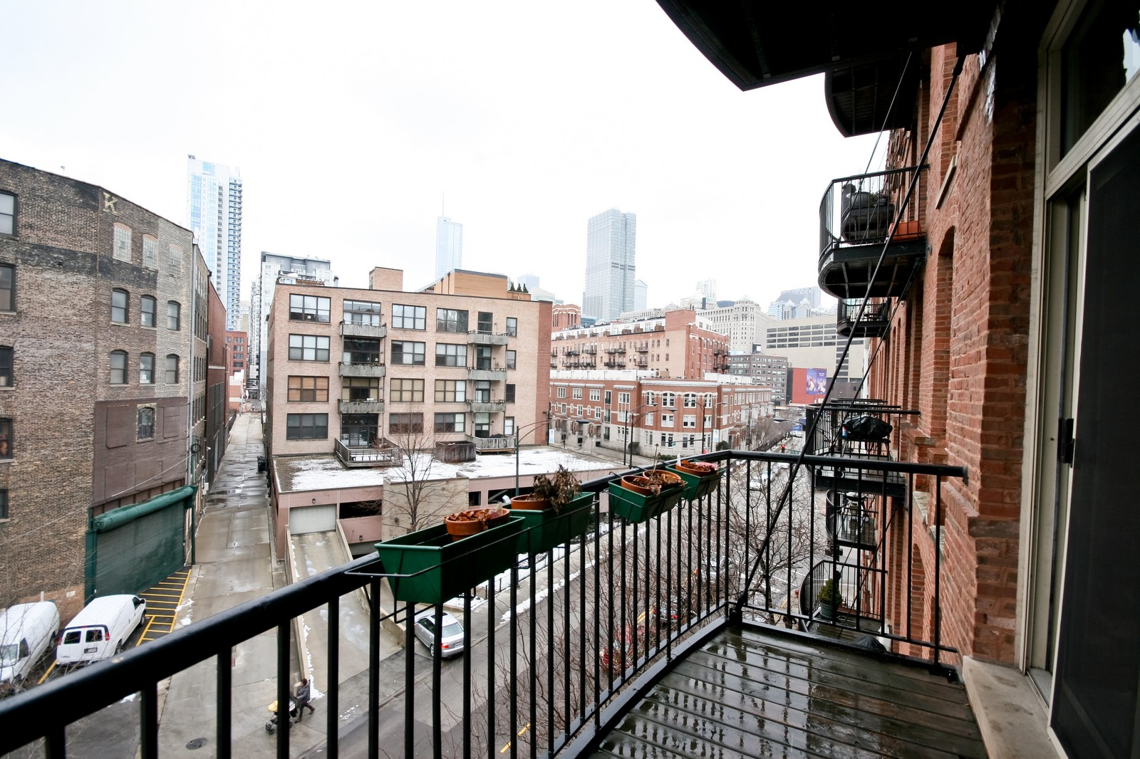 Real Estate Photography - 550 N Kingsbury, Unit 414, Chicago, IL, 60654 - Balcony