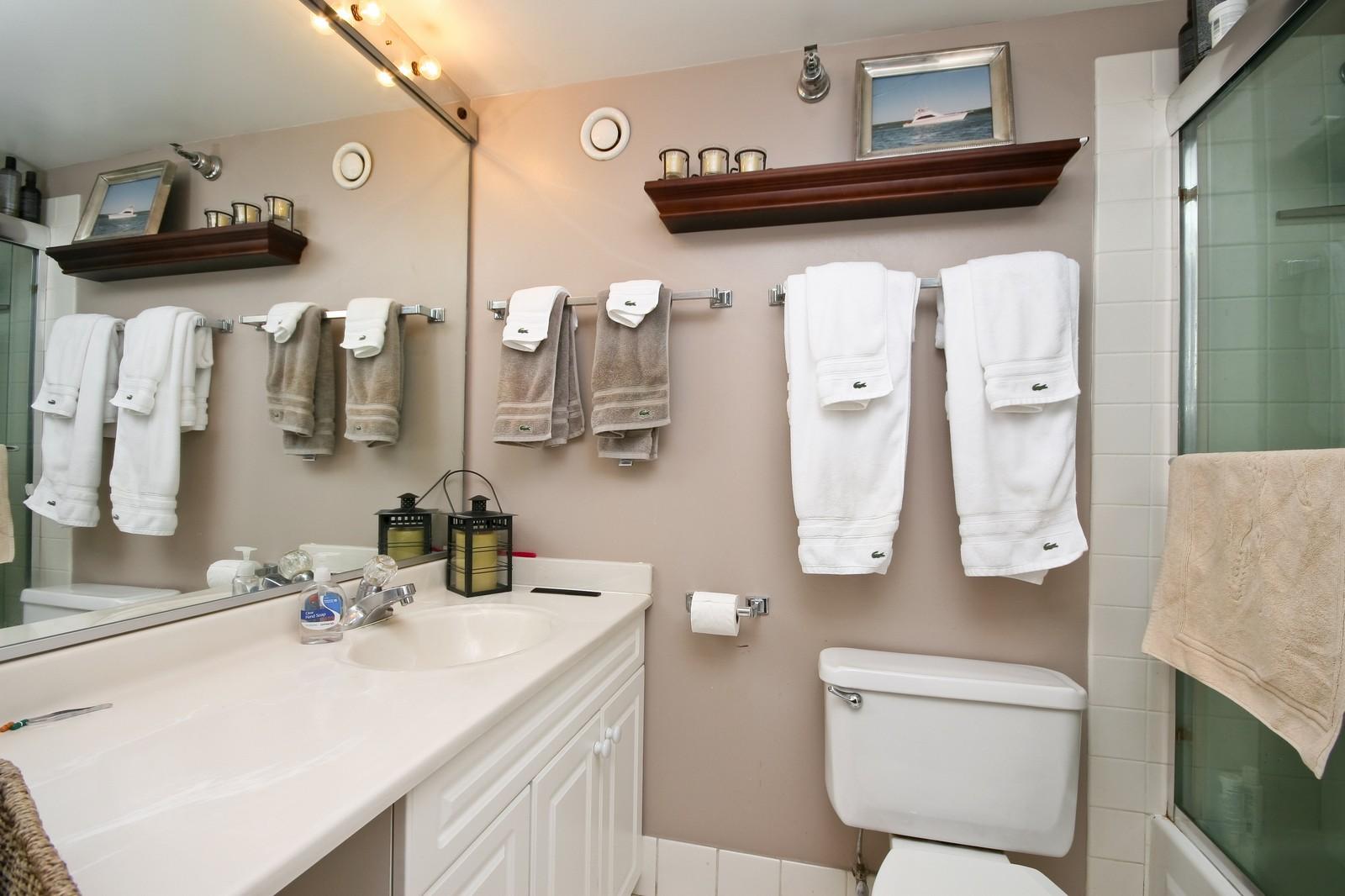 Real Estate Photography - 70 W Huron, Unit 1308, Chicago, IL, 60610 - Master Bathroom