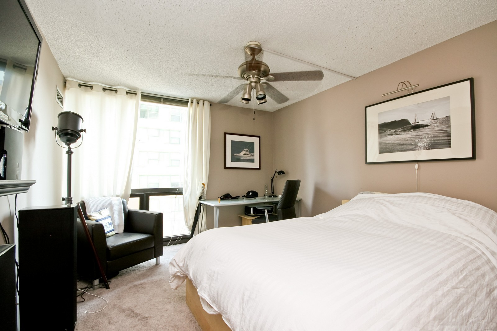 Real Estate Photography - 70 W Huron, Unit 1308, Chicago, IL, 60610 - Master Bedroom