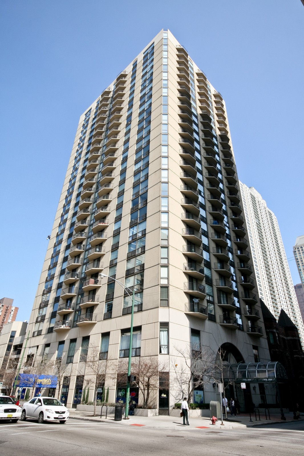 Real Estate Photography - 70 W Huron, Unit 1308, Chicago, IL, 60610 - Front View