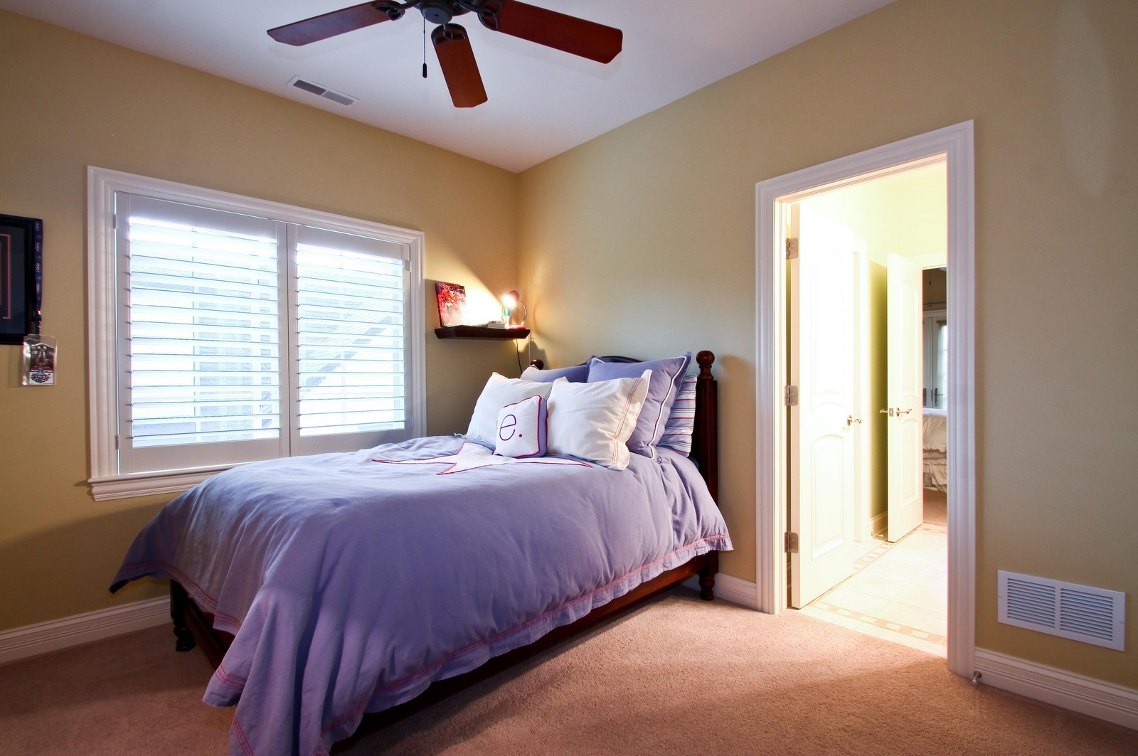 Real Estate Photography - 431 Adams Ave, Glencoe, IL, 60022 - Jack & Jill Bedroom Suite filled with sunlight.