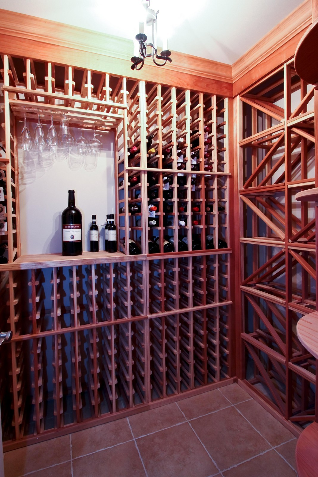 Real Estate Photography - 431 Adams Ave, Glencoe, IL, 60022 - Wine Cellar located in Lower Level.