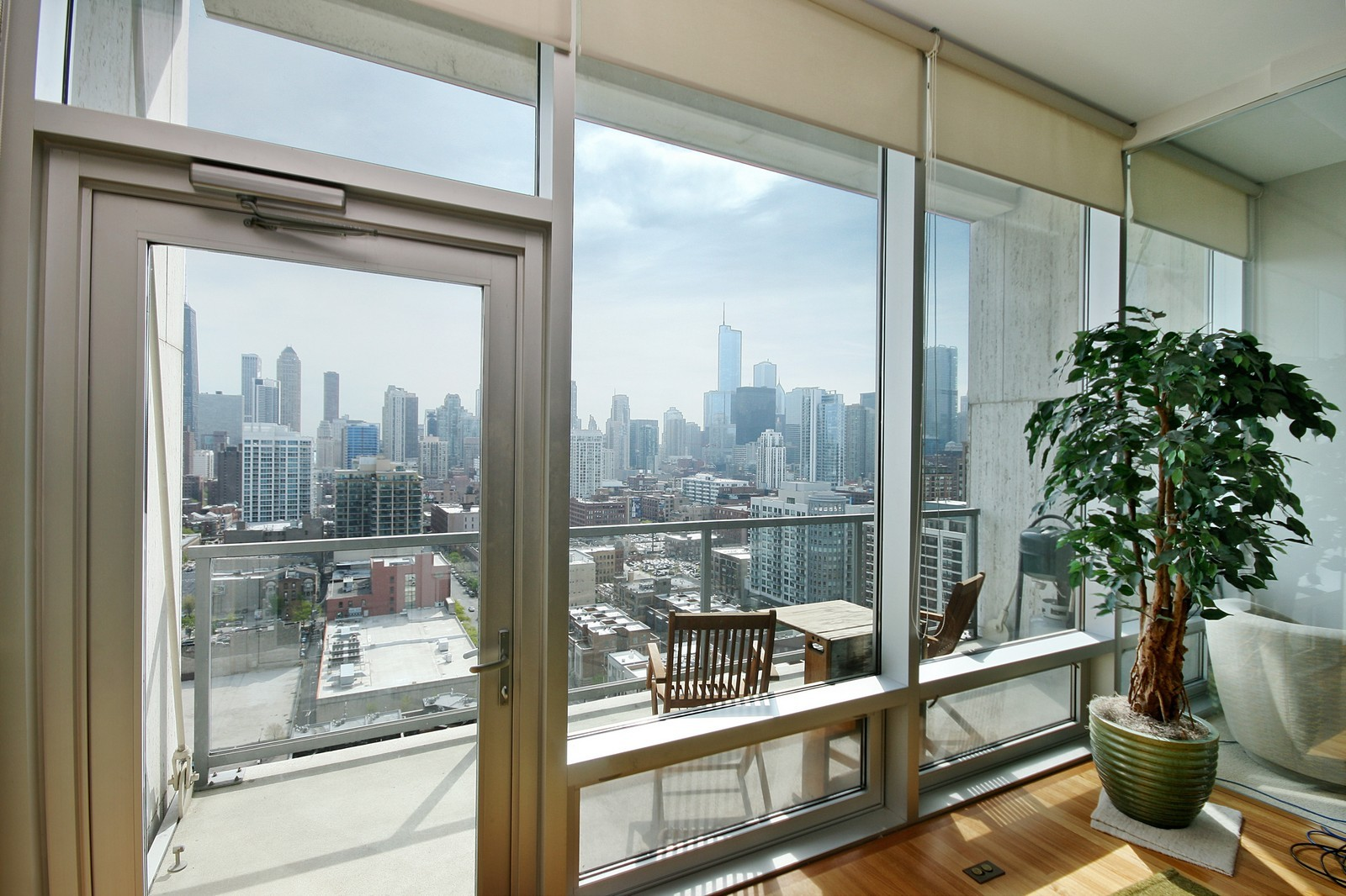 Real Estate Photography - 500 W Superior, Unit 1713, Chicago, IL, 60654 - Living Room