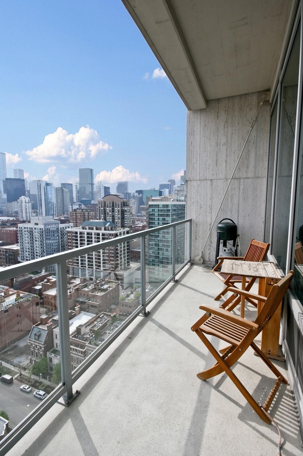 Real Estate Photography - 500 W Superior, Unit 1713, Chicago, IL, 60654 - Balcony
