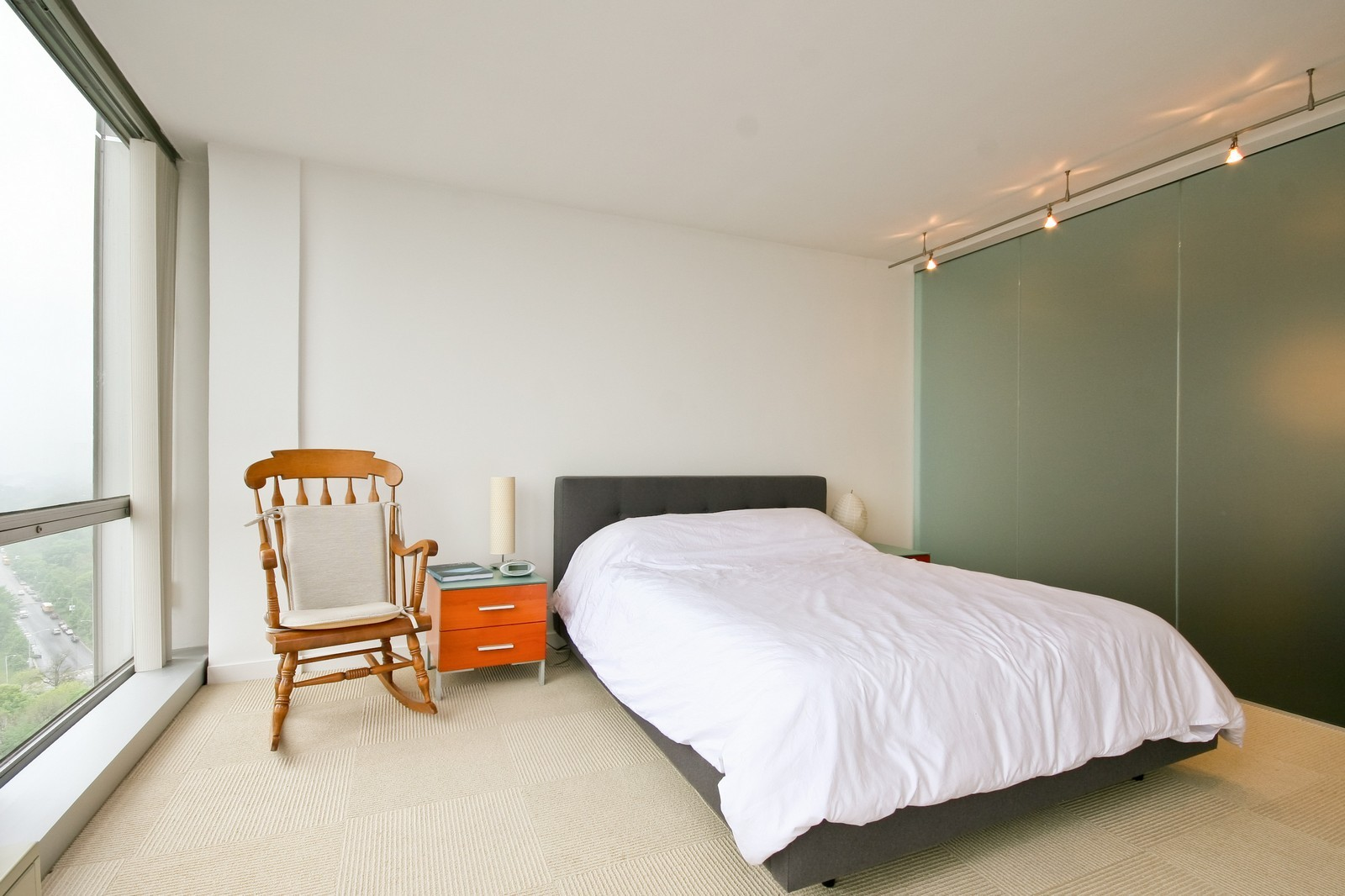 Real Estate Photography - 330 W Diversey, Unit 2308, Chicago, IL, 60657 - Master Bedroom