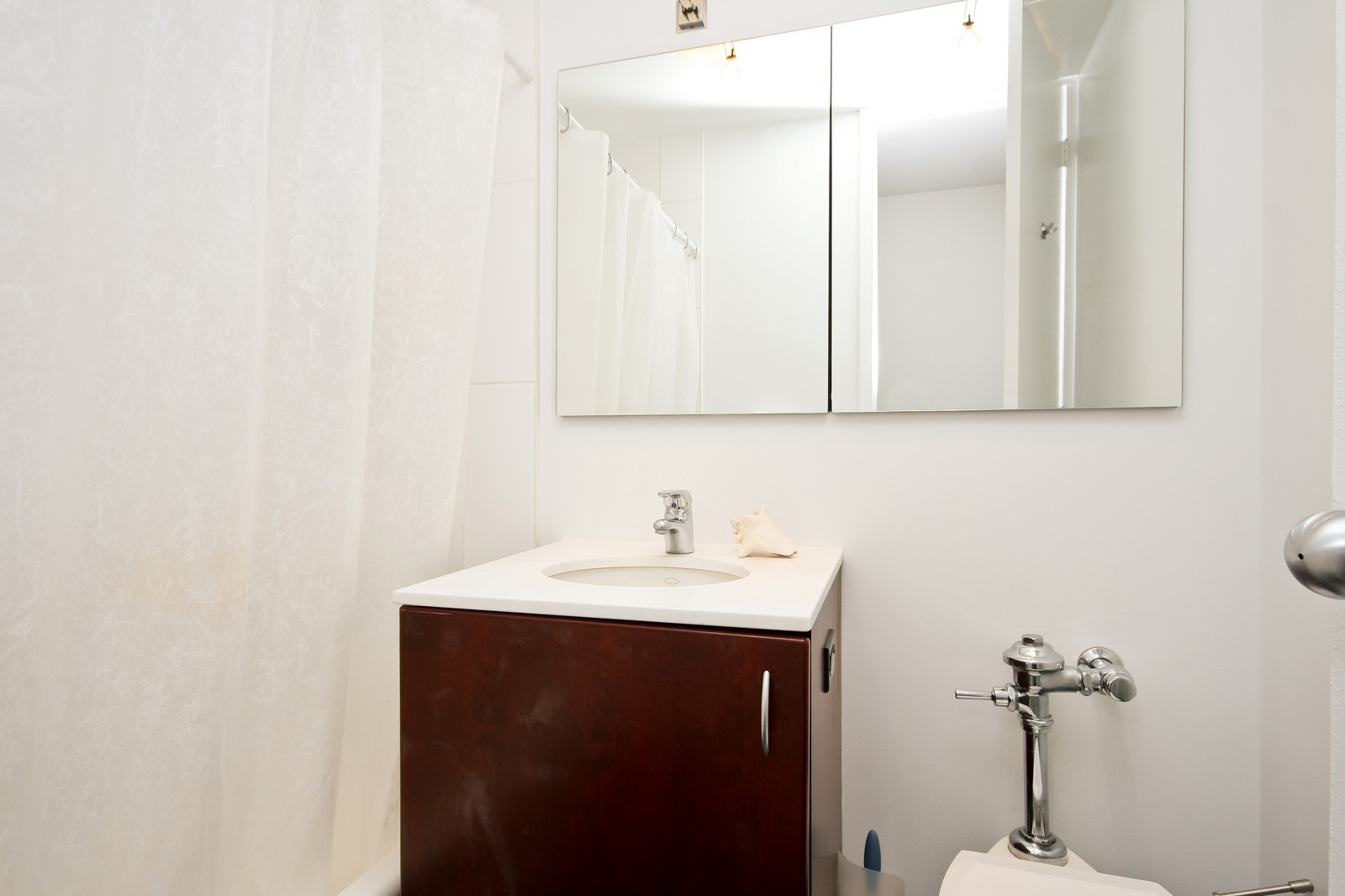 Real Estate Photography - 330 W Diversey, Unit 2308, Chicago, IL, 60657 - 2nd Bathroom