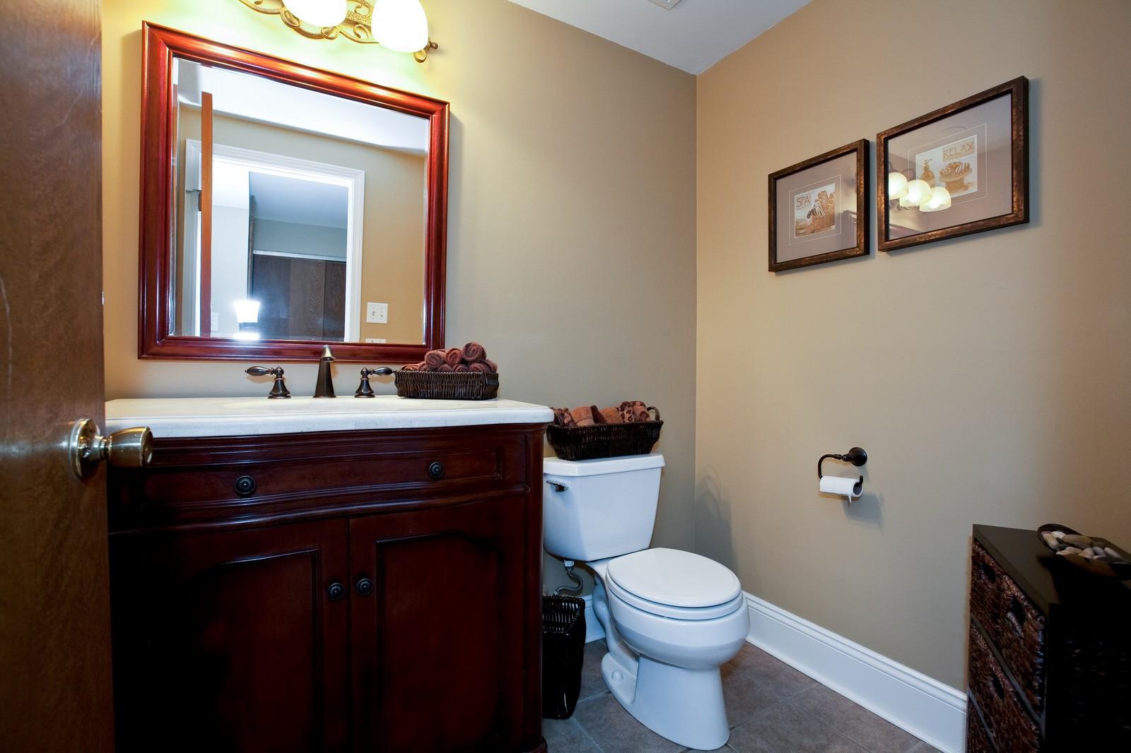 Real Estate Photography - 16W648 90th Street, Willowbrook, IL, 60527 - Half Bath