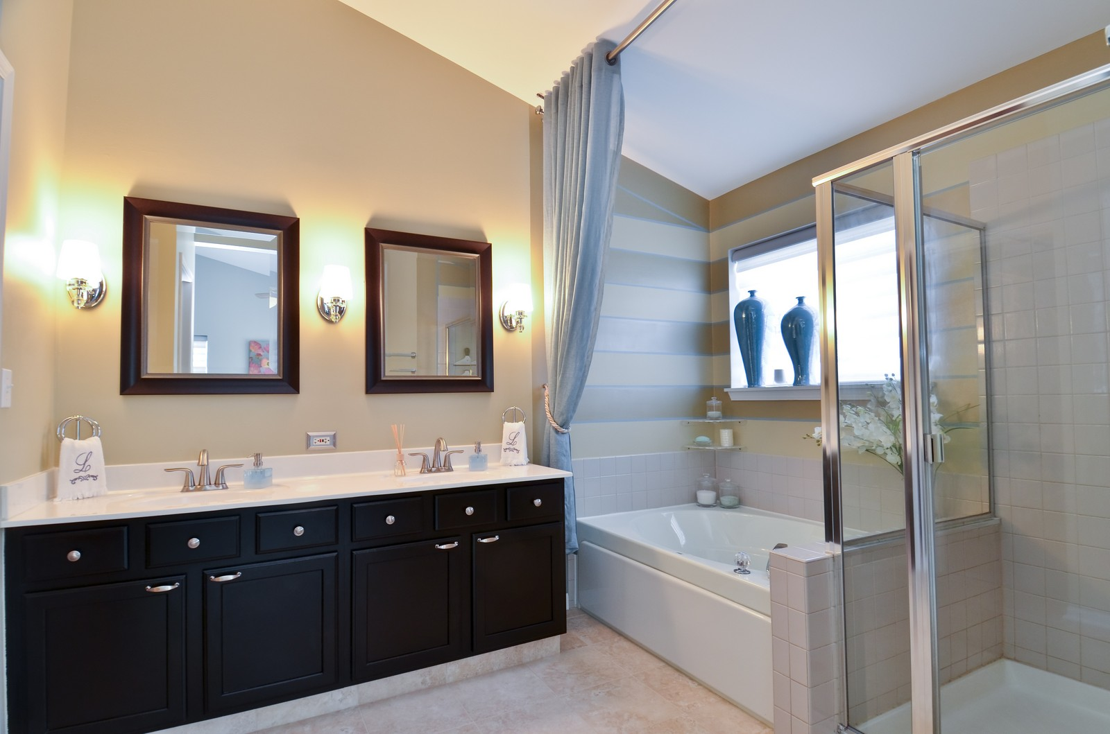 Real Estate Photography - 3025 Pleasant Plains Drive, St. Charles, IL, 60175 - Master Bathroom