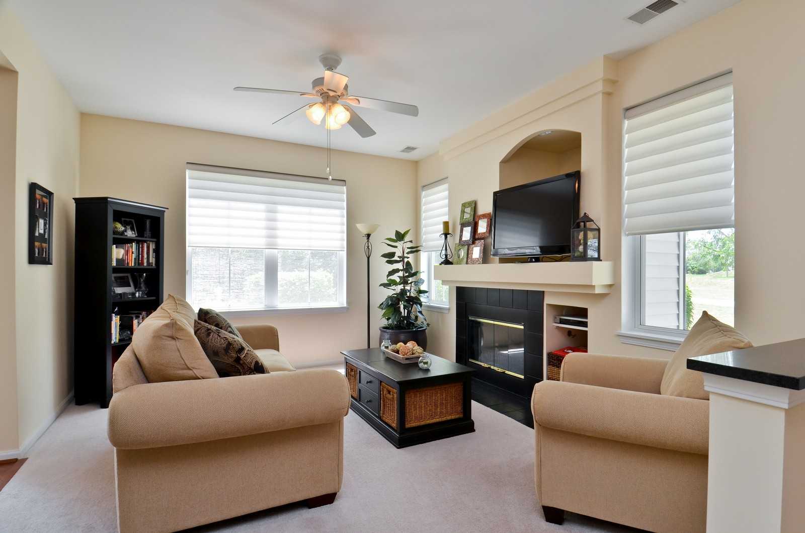 Real Estate Photography - 3025 Pleasant Plains Drive, St. Charles, IL, 60175 - Family Room