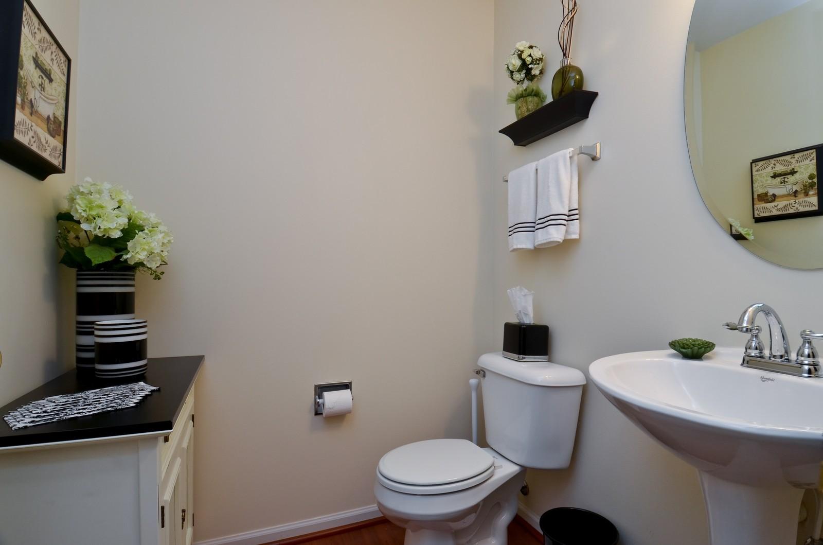 Real Estate Photography - 3025 Pleasant Plains Drive, St. Charles, IL, 60175 - Half Bath