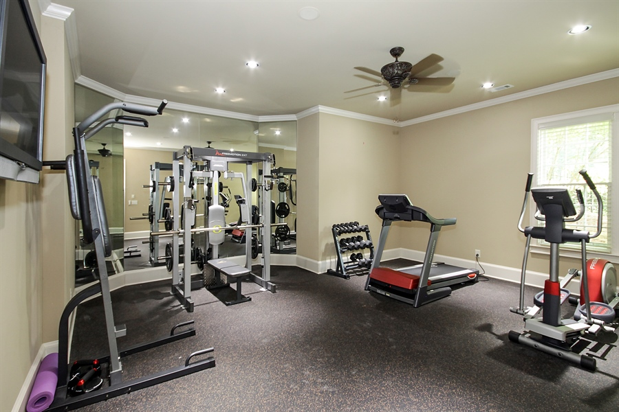 Real Estate Photography - 2853 Thurleston Lane, Duluth, GA, 30097 - Fitness Room