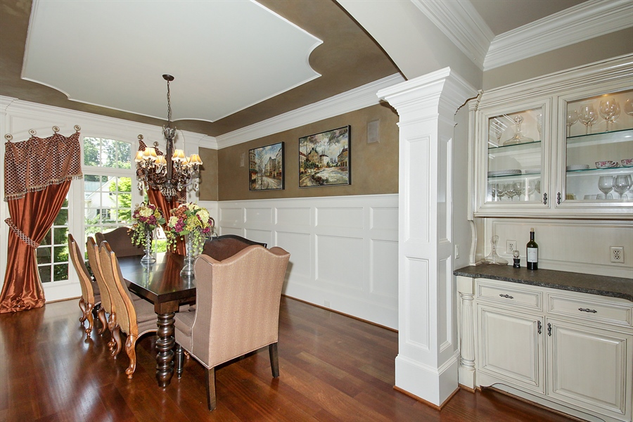 Real Estate Photography - 2853 Thurleston Lane, Duluth, GA, 30097 - Butler's Pantry and Dining Room