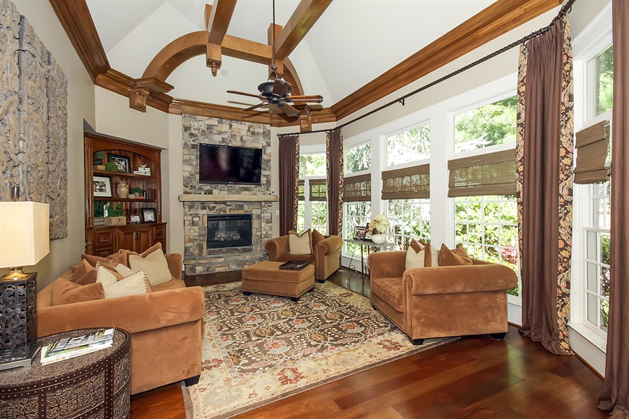 Real Estate Photography - 2853 Thurleston Lane, Duluth, GA, 30097 - Family Room
