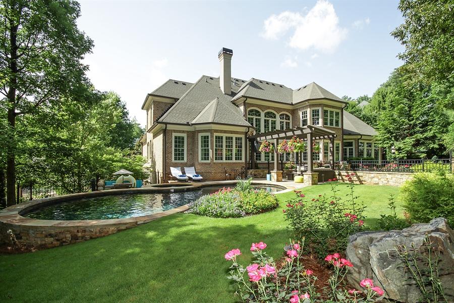 Real Estate Photography - 2853 Thurleston Lane, Duluth, GA, 30097 - Rear View