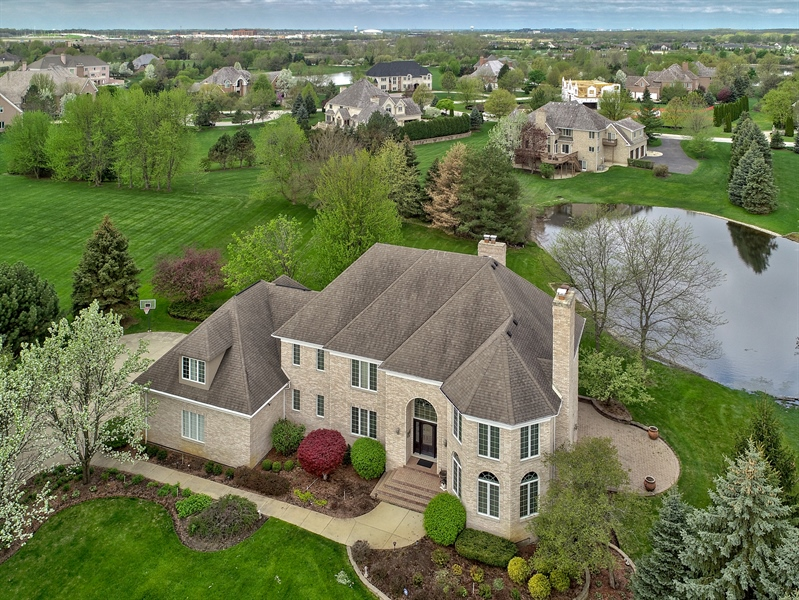 Real Estate Photography - 10 Champlain, South Barrington, IL, 60010 - Aerial View