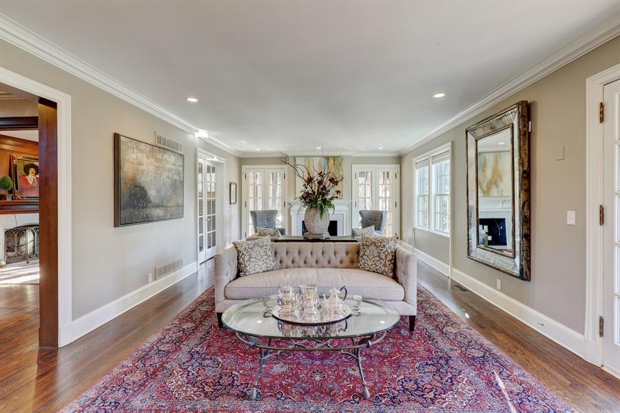 Real Estate Photography - 2401 Drury Lane, Mission Hills, KS, 66208 - Living Room
