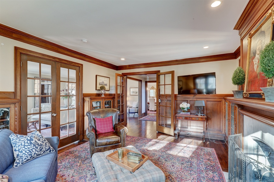 Real Estate Photography - 2401 Drury Lane, Mission Hills, KS, 66208 - Family Room