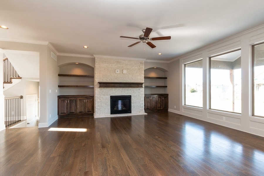 Real Estate Photography - 16200 Stearns St., Overland Park, KS, 66221 - Living Room