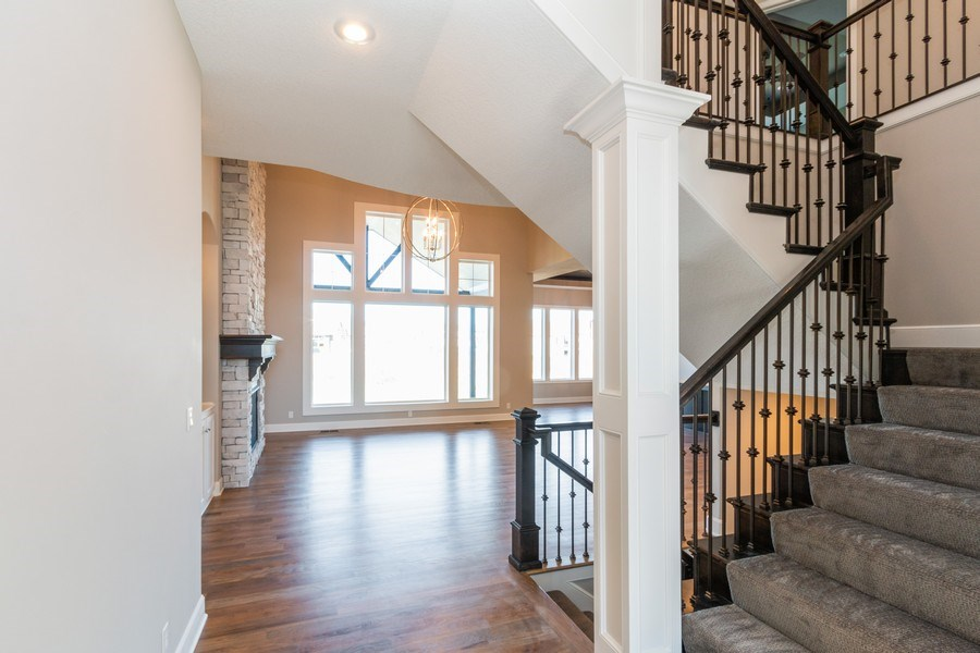 Real Estate Photography - 16204 Stearns St., Overland Park, KS, 66221 - Staircase