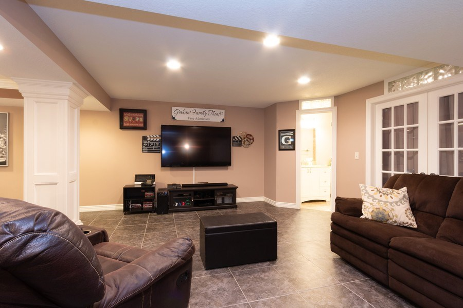 Real Estate Photography - 1013 SW Whistle Drive, Lee's Summit, MO, 64082 - Amazing Finished Basement