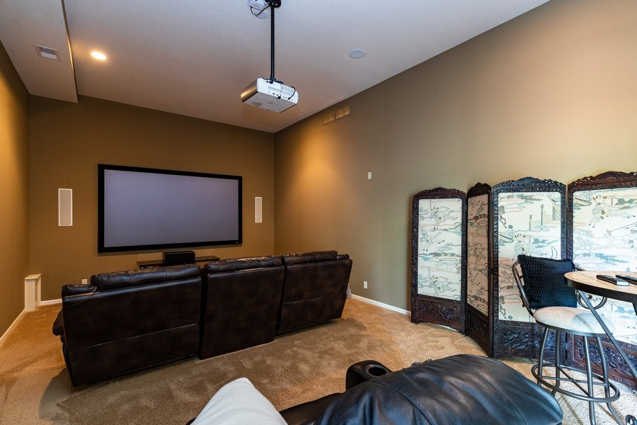 Real Estate Photography - 26722 W 109th St, Olathe, KS, 66061 - Theatre