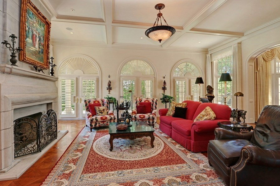 Real Estate Photography - 11521 Pawnee Circle, Leawood, KS, 66211 - Hearth Room
