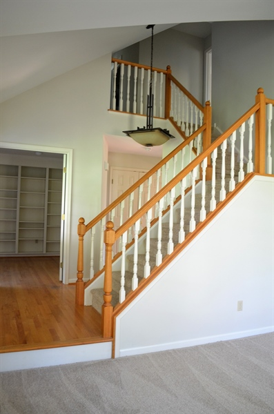 Real Estate Photography - 511 Summerbreeze Dr, Newark, DE, 19702 - Foyer w Turned Staircase