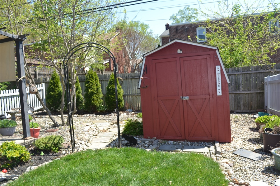 Real Estate Photography - 308 Tindall Rd, Wilmington, DE, 19805 - Large Shed for Storage