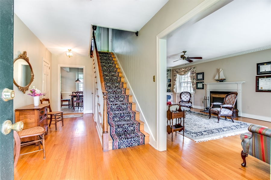 Real Estate Photography - 615 Old Wilmington Rd, Hockessin, DE, 19707 - Entry Way that Opens to Living and Dining Rooms