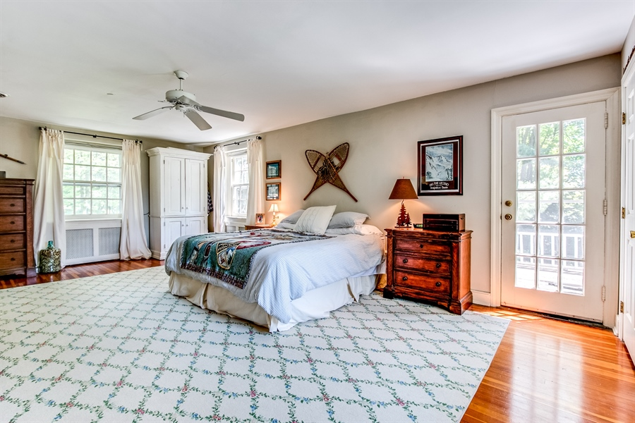 Real Estate Photography - 615 Old Wilmington Rd, Hockessin, DE, 19707 - Master Bedroom with Balcony