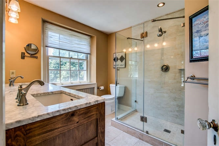 Real Estate Photography - 615 Old Wilmington Rd, Hockessin, DE, 19707 - Updated Master Bath