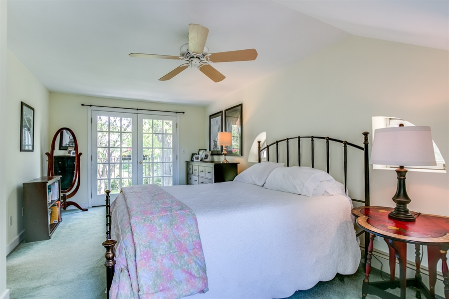Real Estate Photography - 615 Old Wilmington Rd, Hockessin, DE, 19707 - Third Floor Bedroom with French Balcony