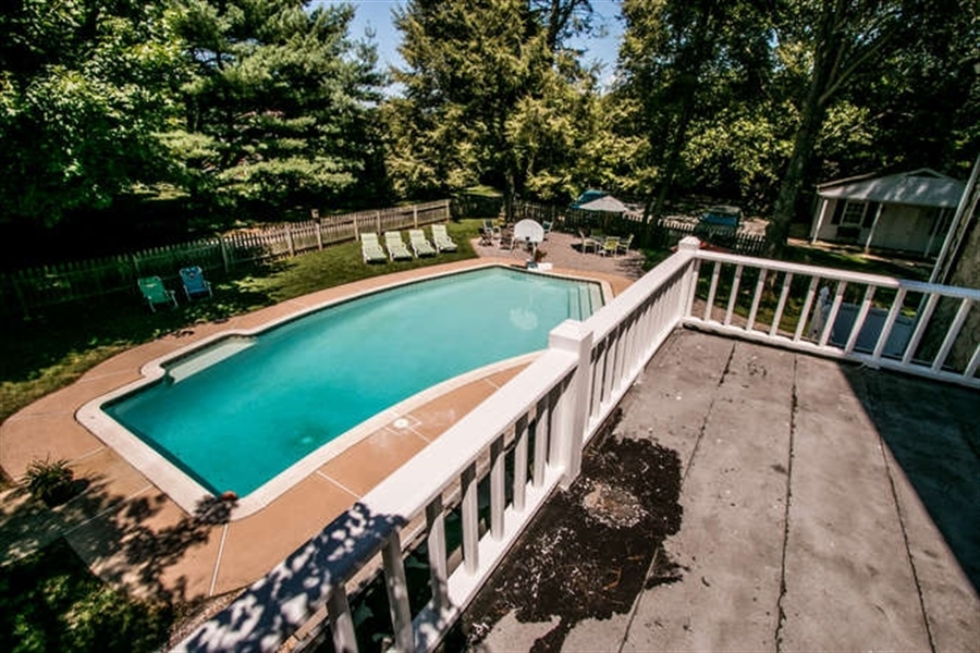 Real Estate Photography - 615 Old Wilmington Rd, Hockessin, DE, 19707 - Balcony Overlooking Pool