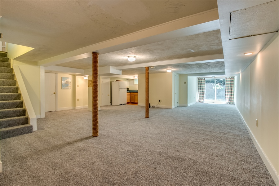 Real Estate Photography - 615 Old Wilmington Rd, Hockessin, DE, 19707 - Finished Basement w Kitchen Area & Full Bath