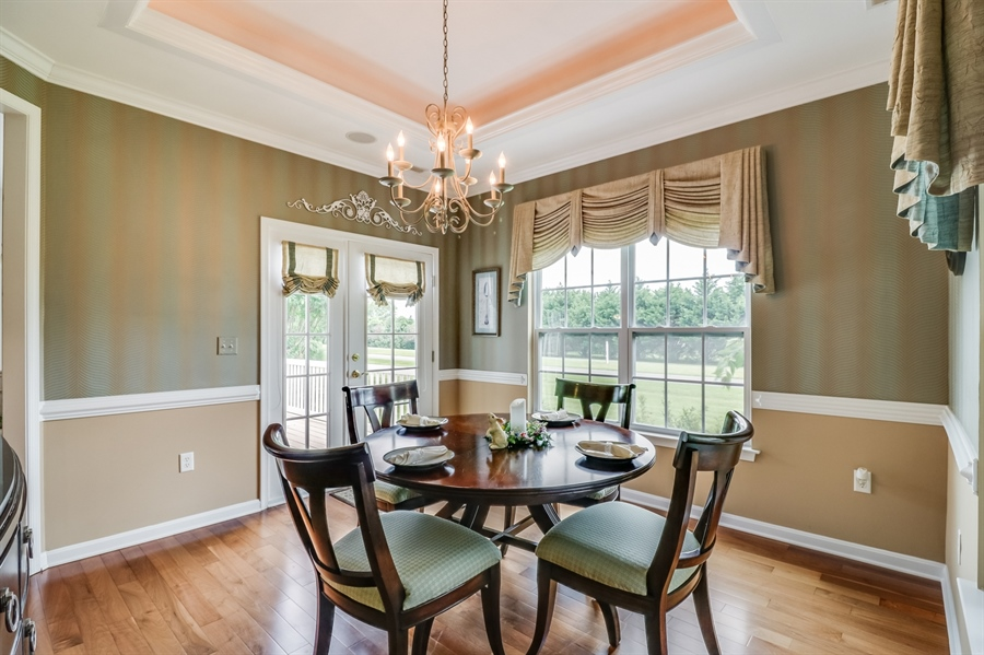 Real Estate Photography - 13 Beacon Cir, Millsboro, DE, 19966 - Gorgeous dining room w/tray ceiling