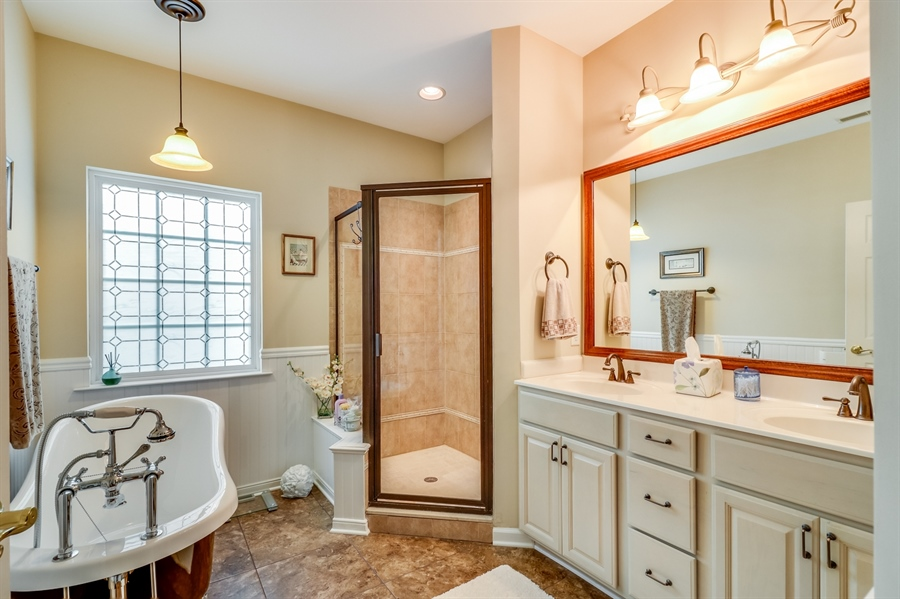 Real Estate Photography - 13 Beacon Cir, Millsboro, DE, 19966 - Luxurious master bathroom