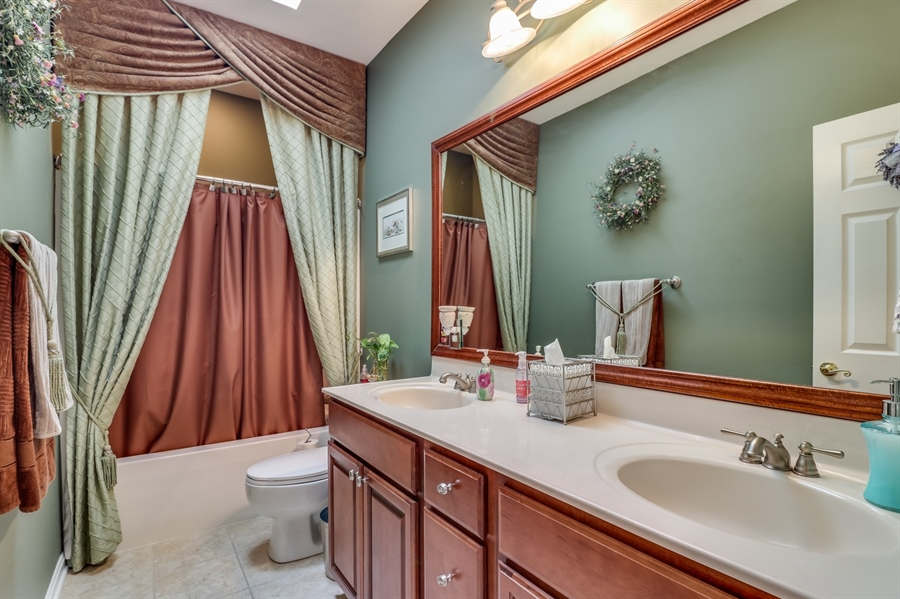 Real Estate Photography - 13 Beacon Cir, Millsboro, DE, 19966 - 2 full bathrooms with skylights & double vanity
