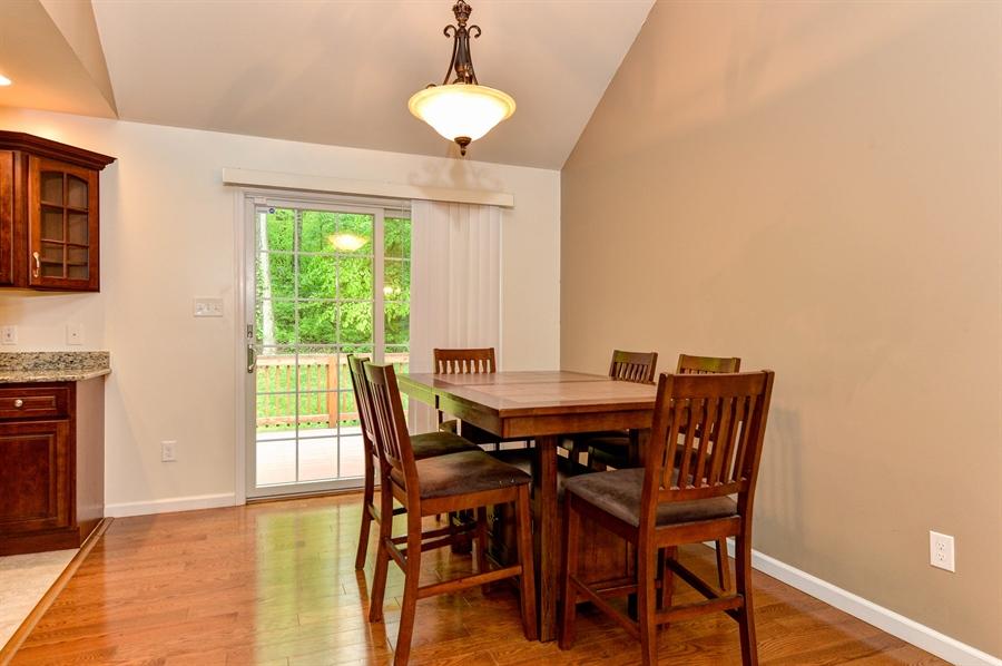Real Estate Photography - 125 Algonquin Dr, Rising Sun, MD, 21911 - DINING AREA, SLIDER TO BACK DECK
