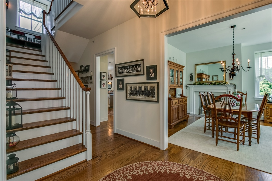 Real Estate Photography - 210 Phillips Mill Ln, Newark, DE, 19711 - Wide Stairwell Leading to 2nd Floor