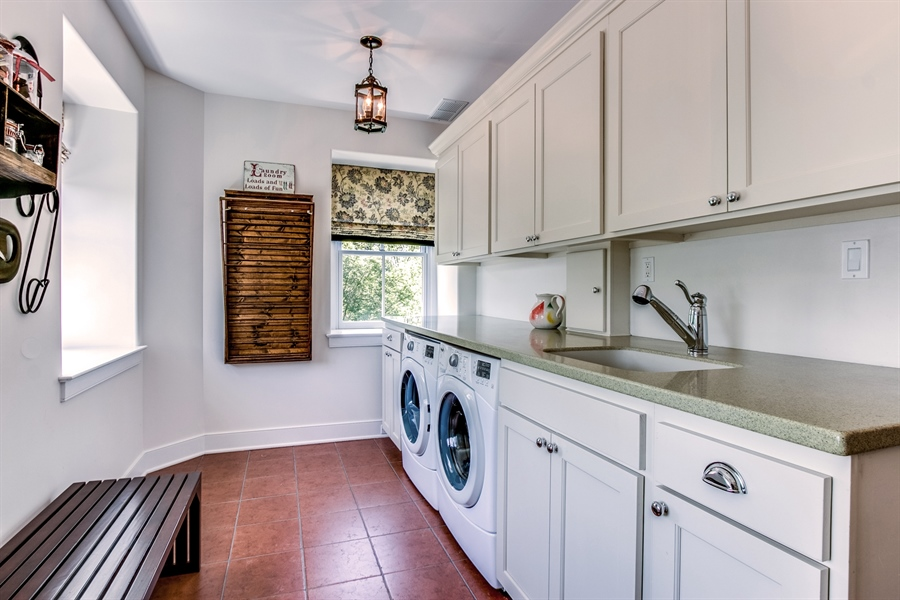 Real Estate Photography - 210 Phillips Mill Ln, Newark, DE, 19711 - 2nd Floor Huge Laundry Room w/ Built-In Cabinets